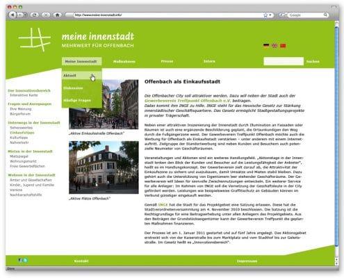 Layout Website INGE Offenbach