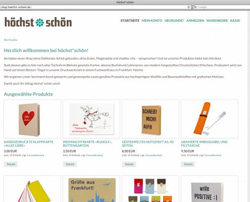 Webdesign / Webshop für höchst*schön