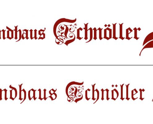 Logo-Redesign Landhaus Schnöller