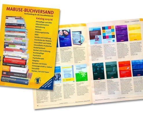 Layout / Grafikdesign eines 80-seitigen Buchkatalogs für den Mabuse-Verlag, Frankfurt