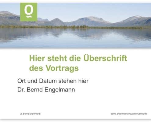 Design PowerPoint-Präsentation Quantsolutions, Frankfurt