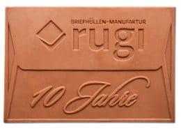 Design Schokoladentafel / Give-Away für rugi Briefhüllen-Manufaktur, Rodgau