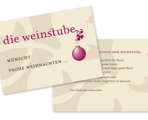 Design Weihnachtsflyer für »die weinstube«, Offenbach