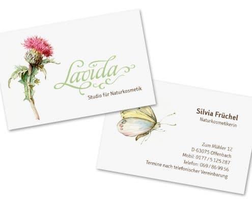 Design Visitenkarte für Lavida – Studio für Naturkosmetik, Offenbach