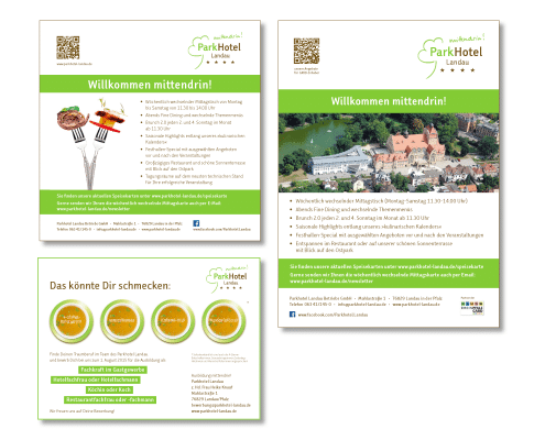 Design Anzeigen für Parkhotel Landau