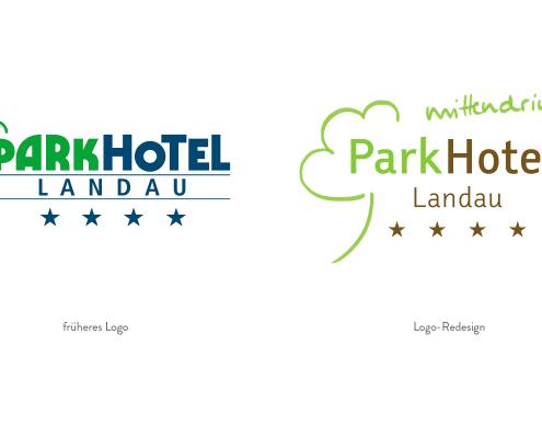 Redesign des Logos für Parkhotel Landau