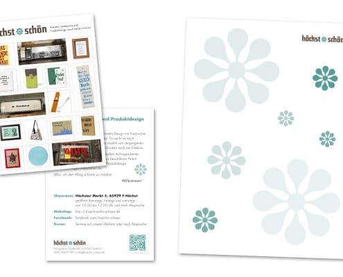 Design Flyer und Briefbogen höchst*schön