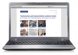 Website Stellenausschreibung für Ferber Personalberatung, Startseite (Notebookansicht)