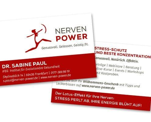 Design Visitenkarten für NERVEN POWER