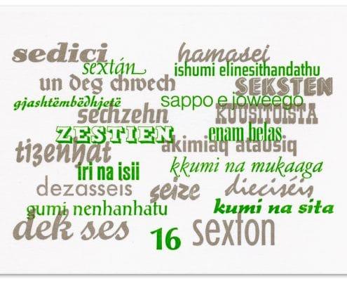 Komplett im Bleisatz gesetzt und von Hand gedruckt ist die internationale Weihnachtskarte von ffj 2015/16