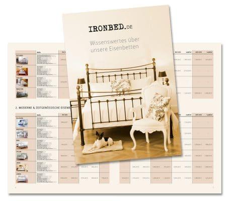 Broschüre »Wissenswertes« für Ironbed.de