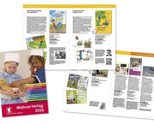 Layout für Verlagskatalog 2016, Mabuse Verlag