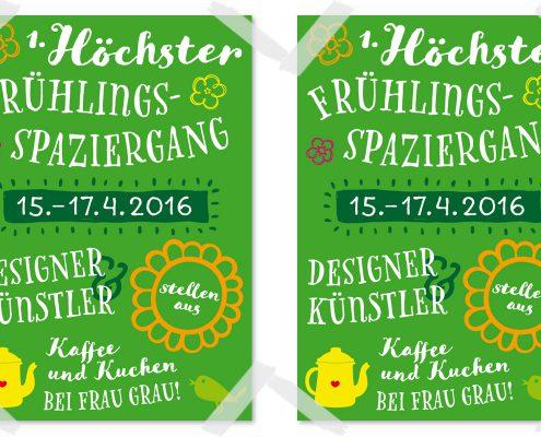 Design für Höchster Frühlingsspaziergang, Poster DIN A1