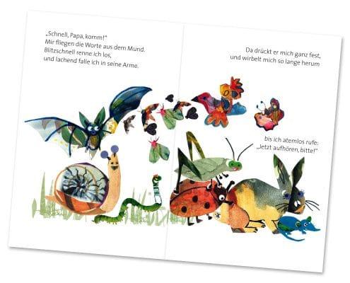 Buchdesign für Kinderbuch »Kleine Maus«, Mabuse-Verlag, Innenseiten