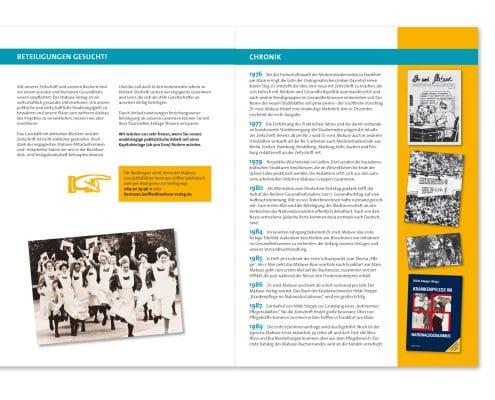 Design für Beteiligungsprospekt Mabuse-Verlag, Innenseiten