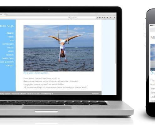 Neue Website / Webdesign für professionelle Luftartistin Meike Silja