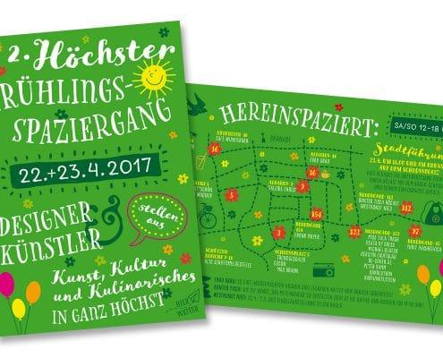 Flyer und Plakate für Höchster Frühlingsspaziergang – Vorder- und Rückseite