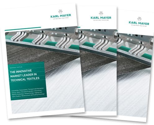 KARL MAYER Technische Textilien – Titel der Imagebroschüre