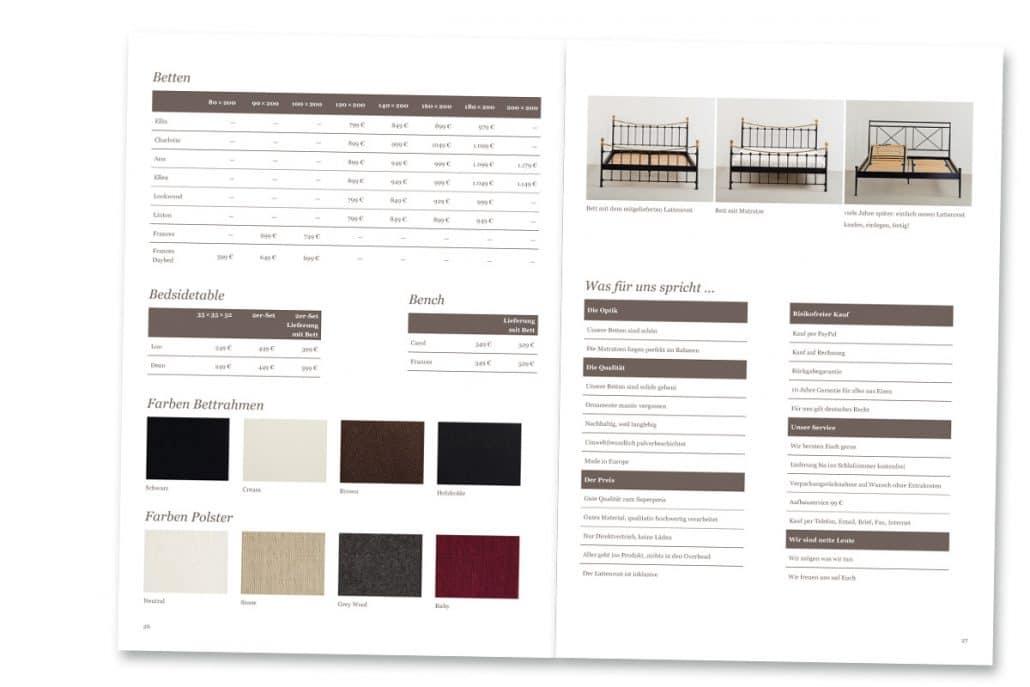 Katalogdesign Für Eisenbettende