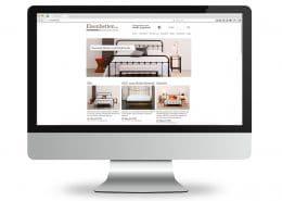 Webshop für Eisenbetten.de, Ansicht Monitor