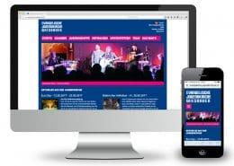 Webdesign Evangelische Jugendkirche, Ansicht Monitor und Smartphone