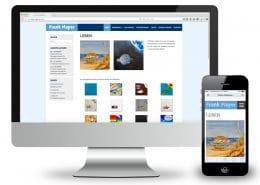 Webdesign Frank Mayer, Ansicht Monitor und Smartphone