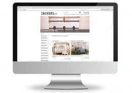 Webshop für ironbed.de, Ansicht Monitor
