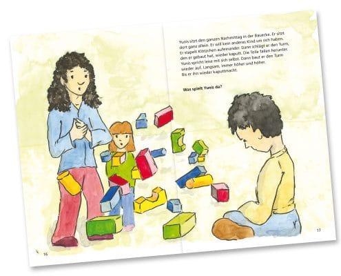 Mabuse-Verlag Kinderfachbuch Yunis und Aziza, Seite 16/17
