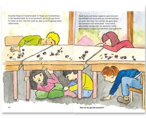 Mabuse-Verlag Kinderfachbuch Yunis und Aziza, Seite 20/21