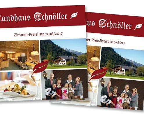Preisliste Landhaus Schnöller Titelseite