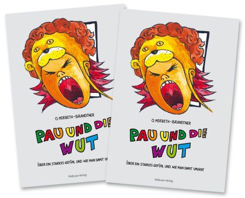 Buchdesign für Mabuse-Verlag »Pau und die Wut«, Titel
