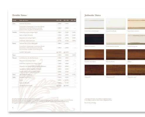 Perfect Nights Katalog Kollektion »Venetian Nights«, Preisliste und Farbmuster