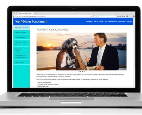 Website Wolf-Dieter Poschmann Ansicht Notebook