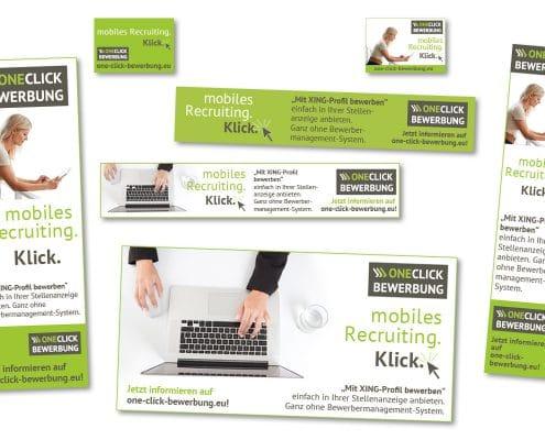 Online-Banner für OneClick-Bewerbung, Ferber Personalberatung