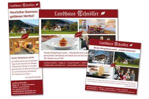 Printanzeigen für Landhaus Schnöller, Tannheimer Tal (Österreich)
