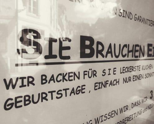 Weilburg, Comic Sans mit Arial-Initialen