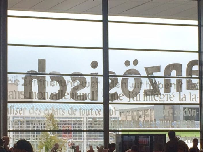 Buchmesse 2017: Beschriftung in Halle 1.1