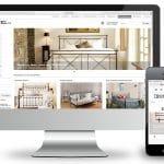 Responsives Webdesign für Webshop ironbed.de: Darstellung am Monitor und Smartphone