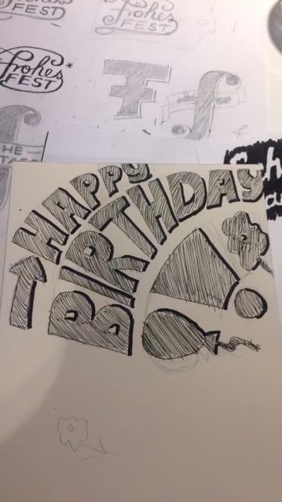 Lettering-Workshop in Essen: »Happy birthday«