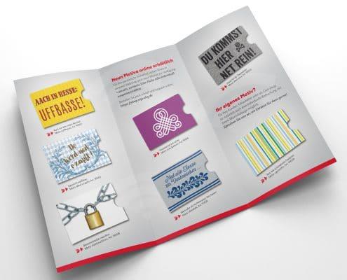 Innenseiten Werbefolder für RFID-Schutzhüllen, rugi Briefhüllen-Manufaktur