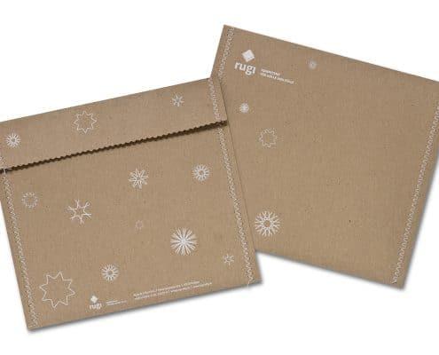 Weihnachtskarte für rugi Briefhüllen-Manufaktur, Umschlag