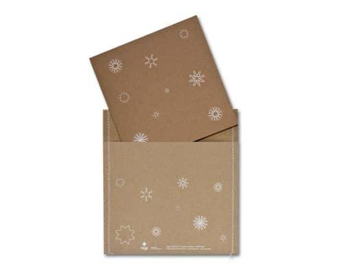Weihnachtskarte für rugi Briefhüllen-Manufaktur, Karte und Umschlag