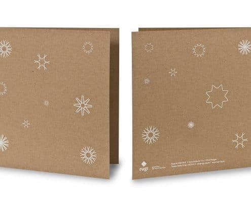 Weihnachtskarte für rugi Briefhüllen-Manufaktur, Außenseiten