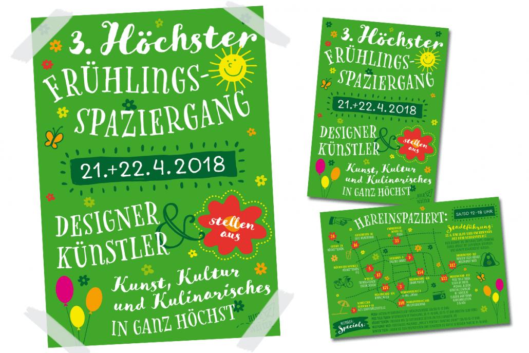 Flyer und Poster für den 3. Höchster Frühlingsspaziergang