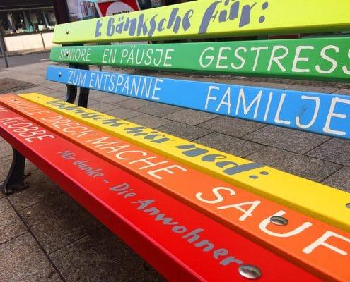 Gestaltung der Sitzbänke für die Höchster Fußgängerzone – Detail