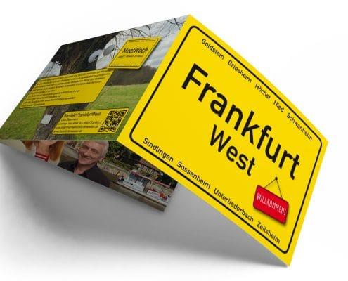 Infofolder für »FrankfurtWest« – Außenseite