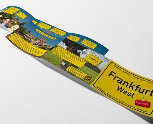 Infofolder für »FrankfurtWest« – Gesamtansicht