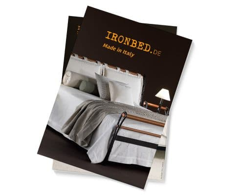 Kataloggestaltung für ironbed.de, Kollektion »Made in Italy« – Titel