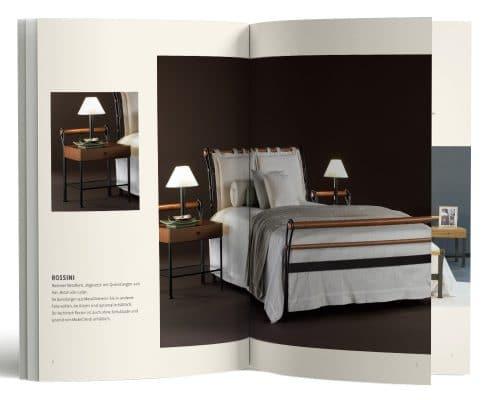 Kataloggestaltung für ironbed.de, Kollektion »Made in Italy« – Innenseiten