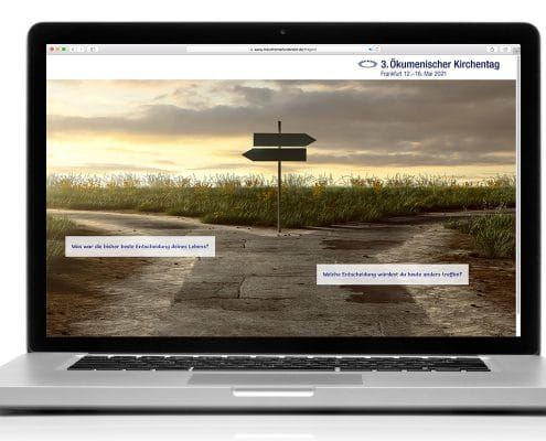 Themensuche 3. Ökumenischer Kirchentag 2021, Darstellung Notebook